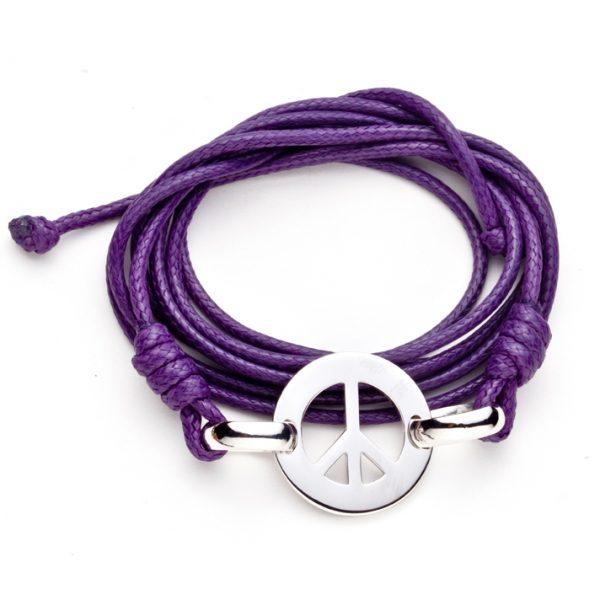 Pulseira com Medalha Paz