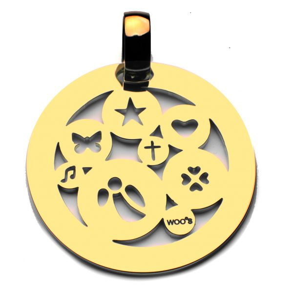 Pendente Sp All Happiness Medals Aço 3.5cm