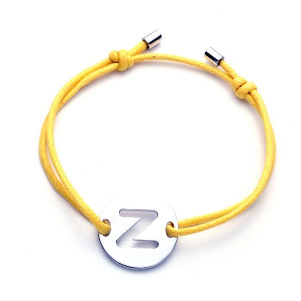 Pulseira com Medalha Letra Z