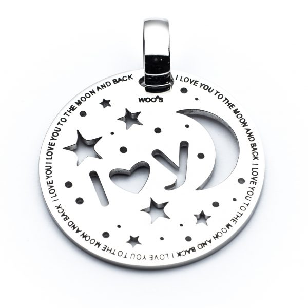 Pendente I Love You 2 The Moon And Back 3.5cm