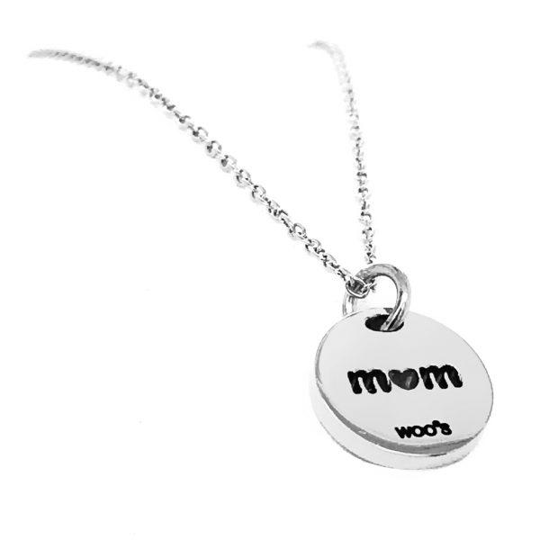 Colar Charm Mom