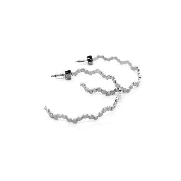 BRINCOS ARGOLA 'Little dots' 4 cm