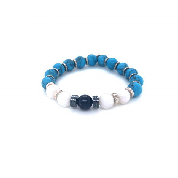 PULSEIRA PEDRA NATURAL BLUE/WHITE