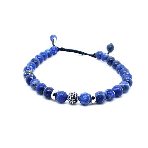 Pulseira pedra Lapis Azul