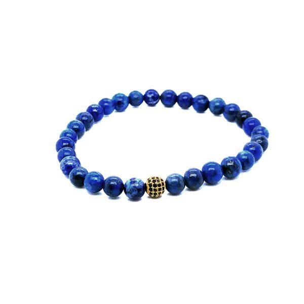 Pulseira pedra Lapis Azul G